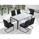 Stainless Steel Dining Table with High Gloss Top ARCTIC I