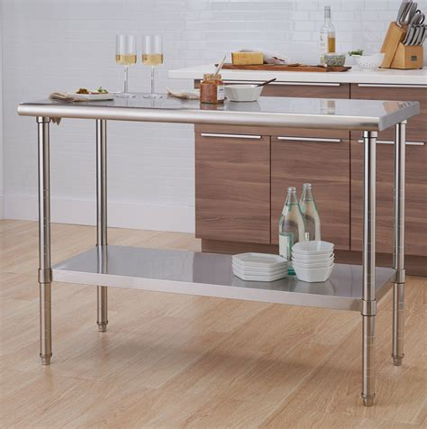 Stainless Steel Topped Work Tables and Kitchen Islands