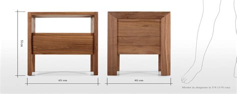 Standard Bedside Table Dimensions designatian