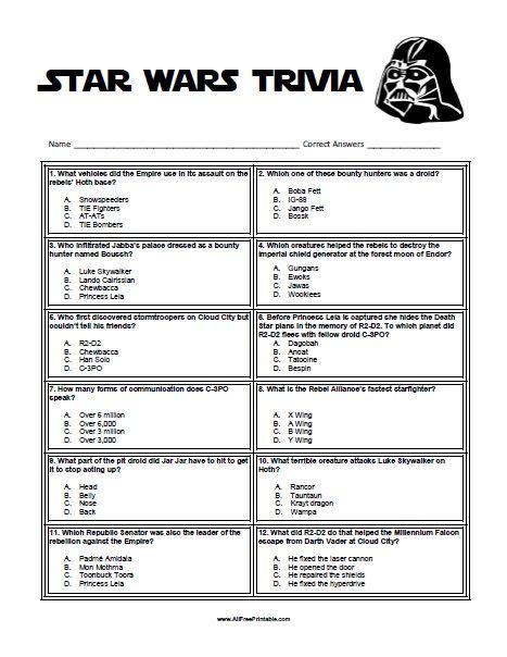 Star Wars Trivia and Quizzes Movie Trivia