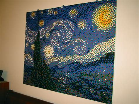 Starry Night LEGO Mosaic Ed Hall s Home Page