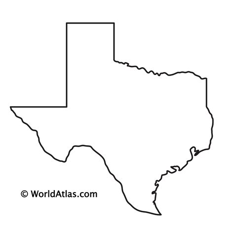 State of Texas Map Outline Printable Texas Map