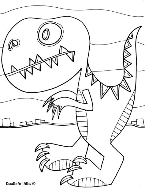 States Coloring Pages Doodle Art Alley