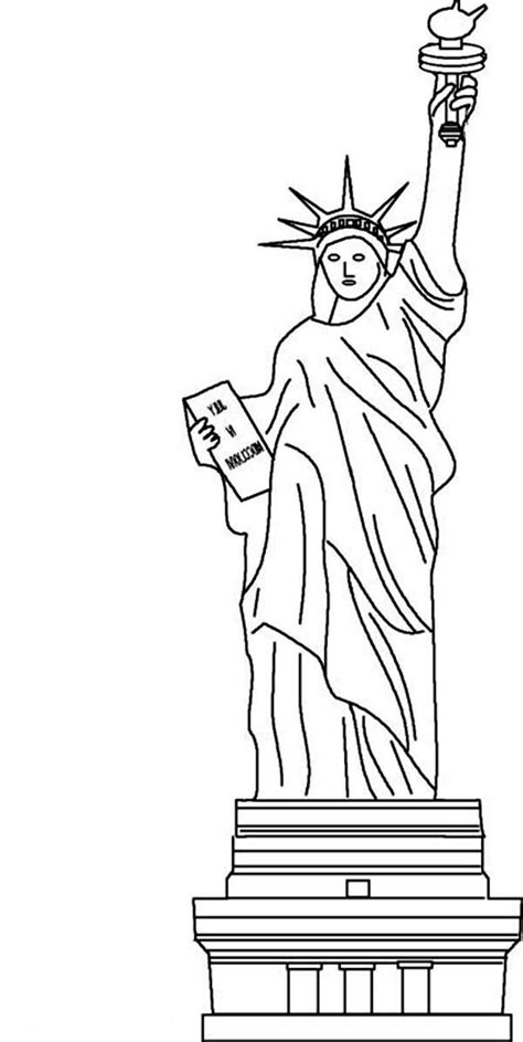 Statue Of Liberty coloring page Free Printable Coloring