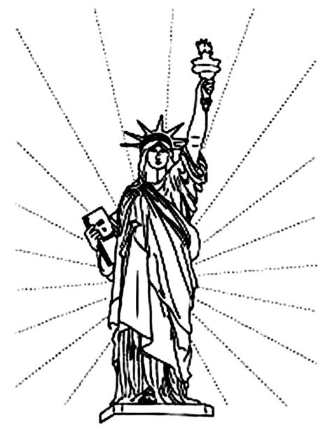 Statue of Liberty Coloring Page Independence Day