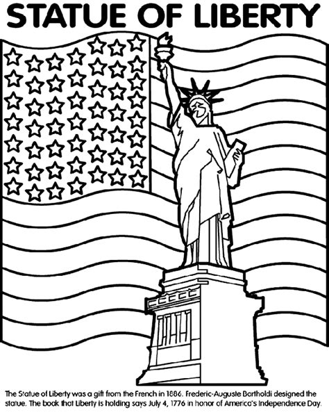 Statue of Liberty Coloring Page crayola