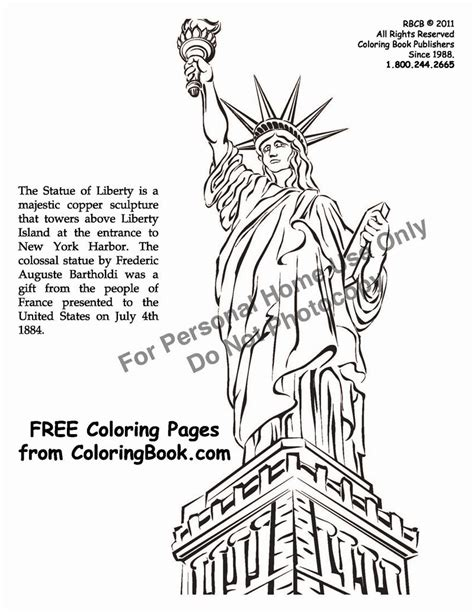 Statue of Liberty Coloring Pages Facts Raising Our Kids