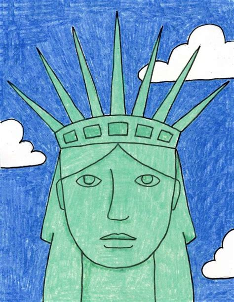Statue of Liberty Portrait Art Projects for Kids