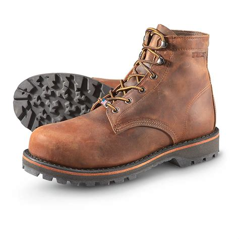 Steel Toe Work Boots Safety Boots For Men Wolverine