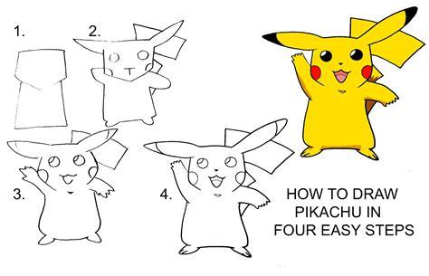 Step by Step Drawing Lesson How to Draw Pikachu from