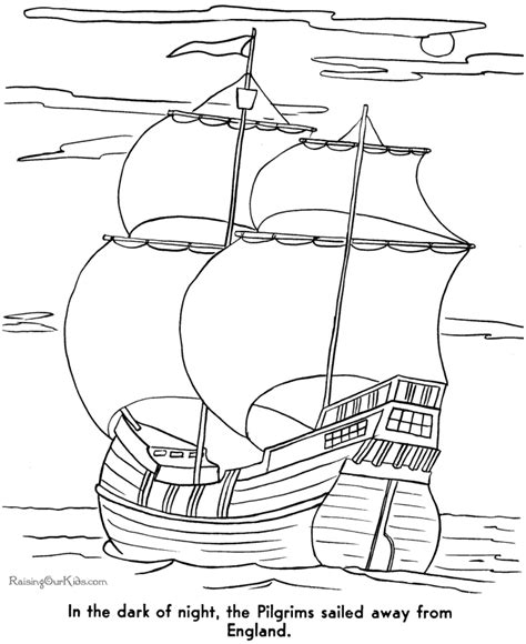 Story of the First Thanksgiving Coloring Pages