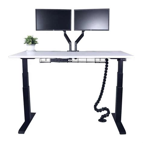 Straight Height Adjustable Desk Sit To Stand Desk Our