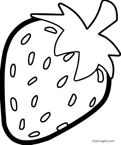 Strawberry Printable Templates Coloring Pages