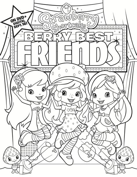 Strawberry Shortcake Coloring Pages Free and Printable