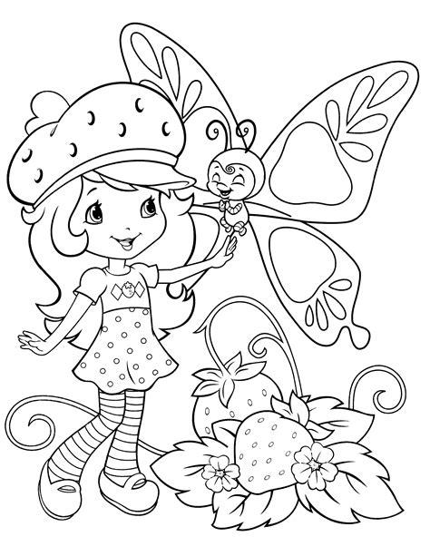 Strawberry Shortcake coloring page Free Printable