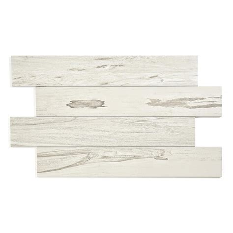 Style Selections Brazilian Pecan White Porcelain Floor and