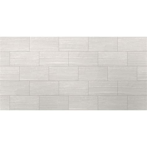 Style Selections Leonia Silver Porcelain Floor and Wall