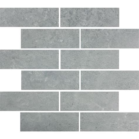 Style Selections Skyros Gray Brick Mosaic Porcelain Floor