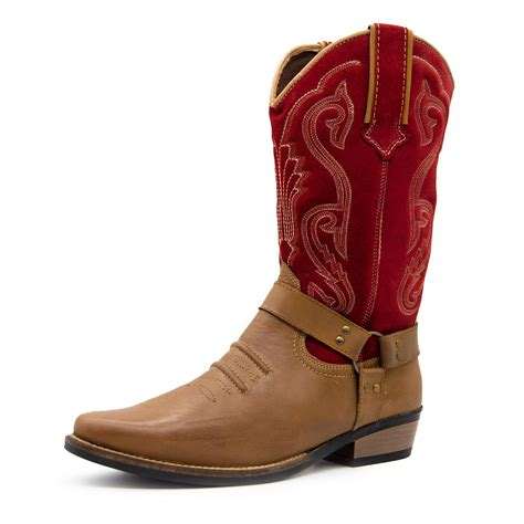Suede Cowboy Western Boots for Men eBay