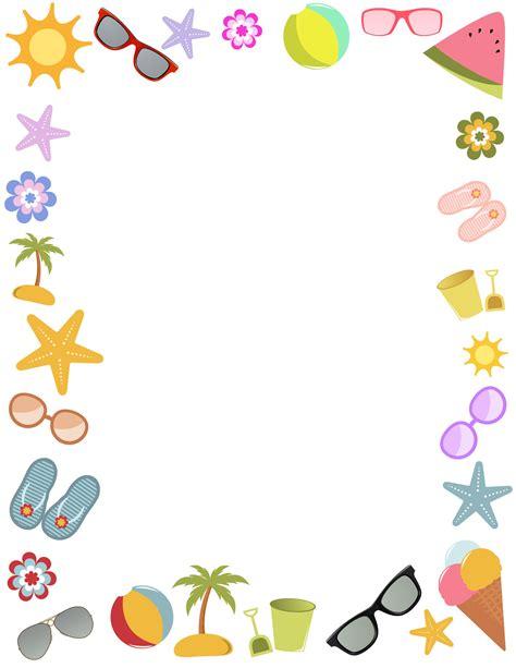 Summer Borders Wedding Clipart