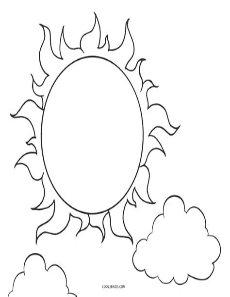 Sun Coloring Page www ColoringCastle