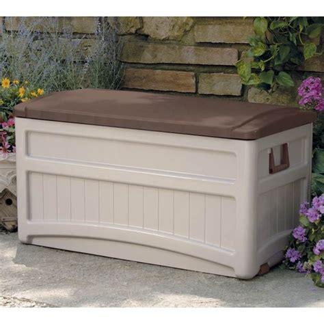 Suncast Portable Deck Storage Box With Wheels