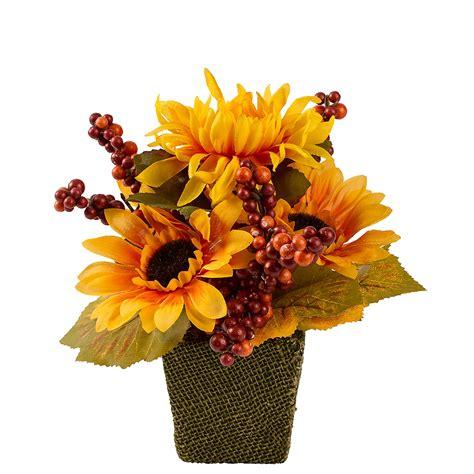 Sunflower in Burlap Pot 3 1 2in x 10 1 2in Party City