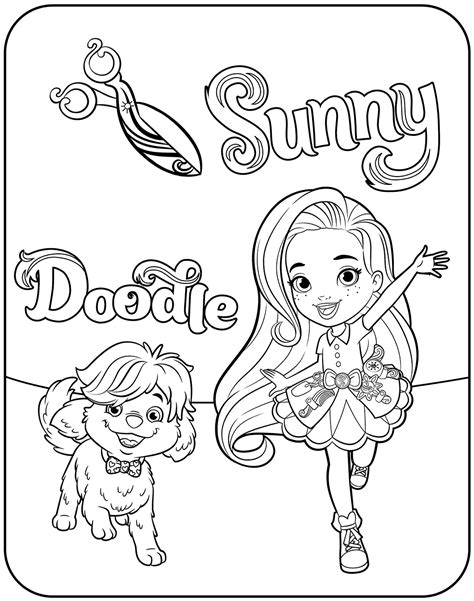 Sunny Day Coloring Pages Printable KidsFront