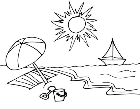 Sunny Day Coloring Pages for Kids to Color and Print