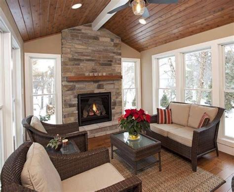Sunrooms with Fireplaces Ideas Pictures