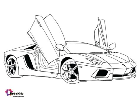Super Car coloring page Free Printable Coloring Pages