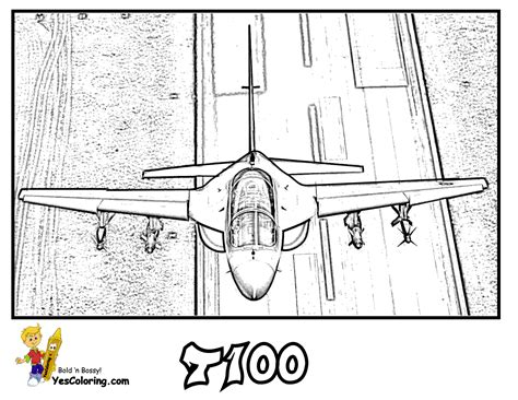 Super Mach Airplane Coloring Pages Airplanes Free