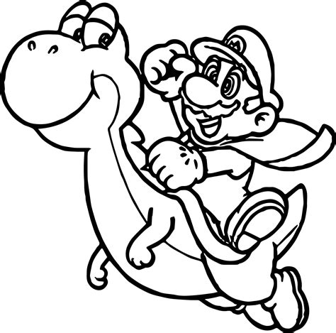 Super Mario online coloring pages