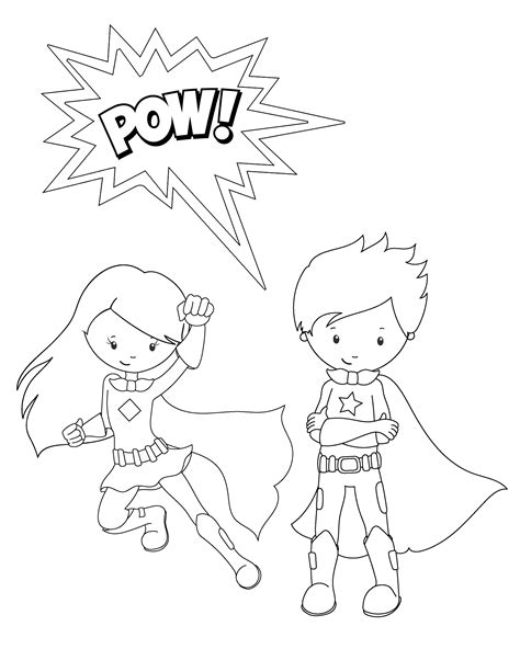 Superhero Activities and coloring pages for kids