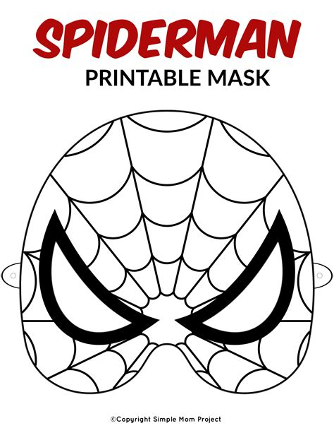 Superhero Mask Printable Templates Coloring Pages