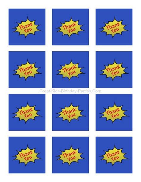 Superhero Printables Great Kids Birthday Parties