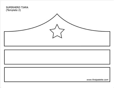 Superhero Tiara Printable Templates Coloring Pages