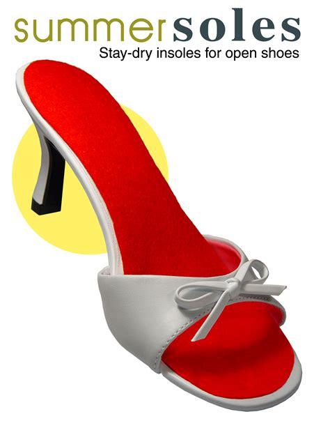 Sweaty feet Chic Summer Soles open shoe sandal insoles