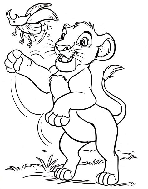 THE LION KING COLORING Pages Free Download Printable