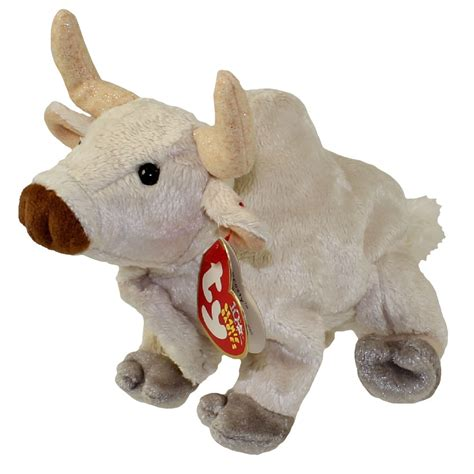 TY Beanie Baby FROSTY the Bull 5 inch BBToyStore