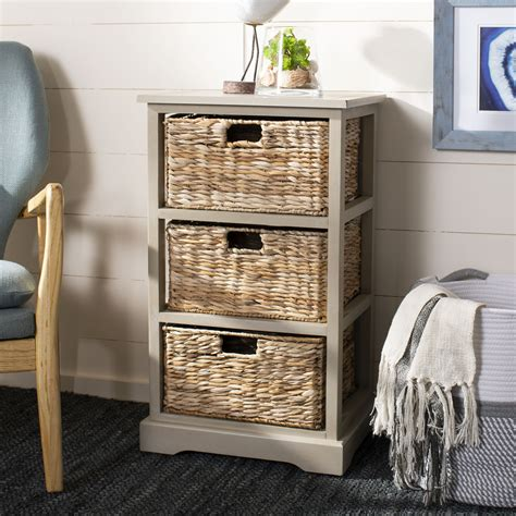 Table With Wicker Basket Storage Sears