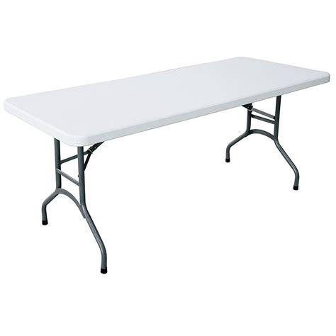 Tables Folding Tables 6 Plastic Folding Table White
