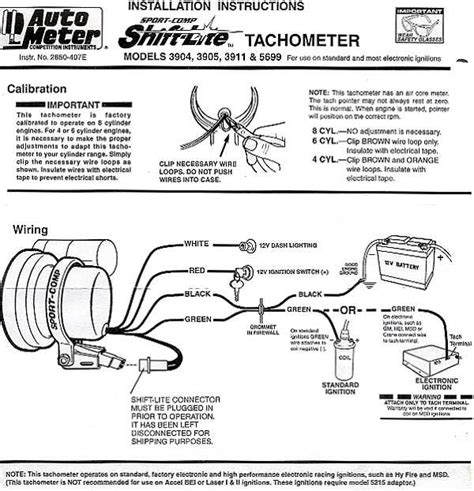 auto gauge 5 inch tach wiring diagram images tachometer installation autogage tach install offroaders