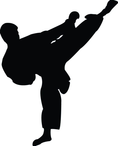 Tae Kwon Do Silhouette Free vector silhouettes