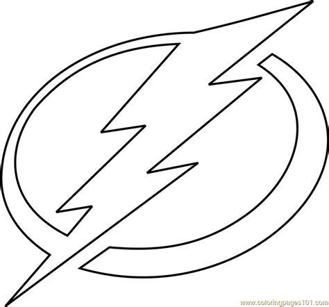 Tampa Bay Lightning Logo coloring page Free Printable