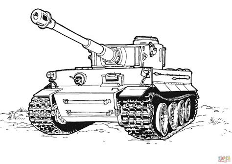 Tank coloring page Free Printable Coloring Pages