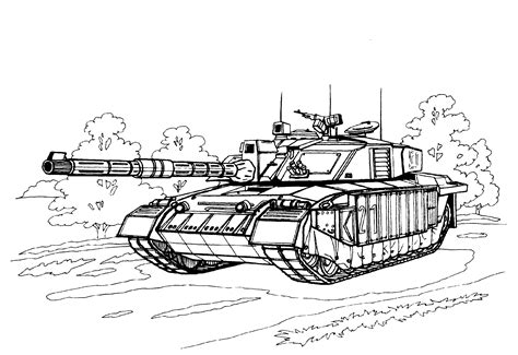 Tanks Coloring Pages Military BigActivities