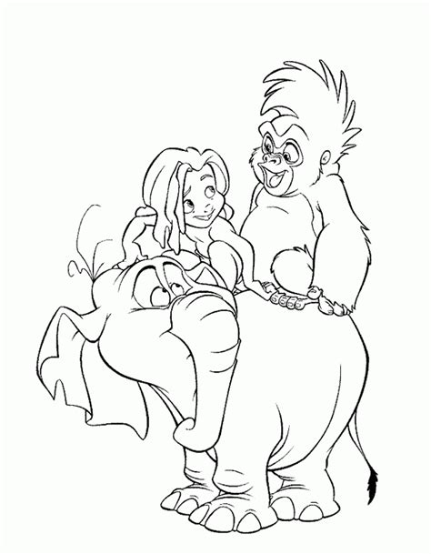Tarzan coloring pages on Coloring Book info