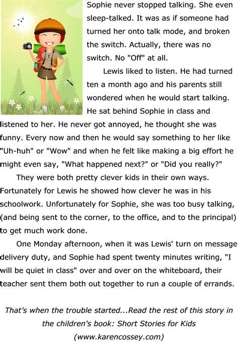Teacher Printable Stories for Kids Short Stories for