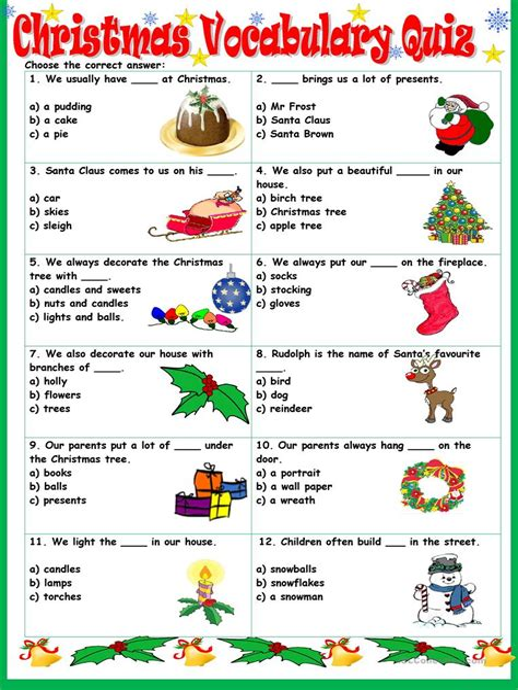Teaching Spanish Christmas Vocabulary Activity and Quiz